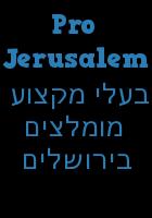 Pro Jerusalem בעלי מקצוע